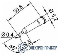 Конус 0,4мм, изогнутое (к i-tool, i-tool nano) 102SDLF04