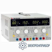 Четырехканальный источник питания постоянного напряжения и тока. два регулируемых канала 0-30 в/0-3 а АТН-4233