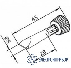 Клин 8 мм с конусообразным переходом (к i-tool) 102CDLF080C