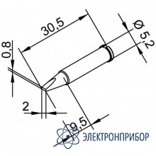 Клин 2 мм (к i-tool, i-tool nano) 102CDLF20
