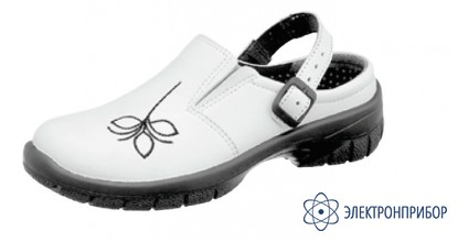 Антистатические женские туфли-сабо из натуральной кожи MONICA LILLY