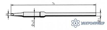 Клин 1,8мм, удлиненное (к microtool) 212KD-LF