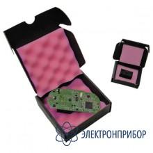 Антистатическая картонная коробка с розовым поролоном (полиуретаном) внутри снизу и сверху 25-402-0105