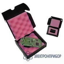 Антистатическая картонная коробка с розовым поролоном (полиуретаном) внутри снизу и сверху 25-402-0210