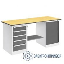 Верстак, оснащенный драйвером и тумбой ВР-15ДТ/№1