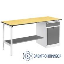 Верстак, оснащенный тумбой ВР-12+ТМБ-02/№1