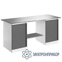 Верстак, оснащенный двумя тумбами ВР-18ТТ/№4