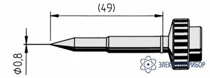 Конус 0,8мм (к techtool) 612UD-LF