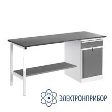 Верстак, оснащенный тумбой ВР-18+ТМБ-02/№2