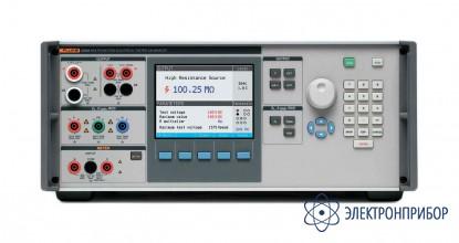 Многофункциональный калибратор электрических тестеров с источником напряжения 600 в,  активным компенсатором контура и датчиком на 40 кв Fluke 5320A/VLC/40