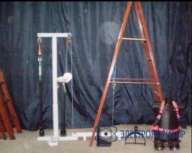 Cтенд механических испытаний лестниц, поясов, когтей, лазов СМИ-1
