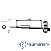 Клин 2,4мм, толщина 0,7мм (к techtool) 612KD-LF