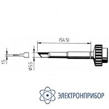 Лезвие 5,5 мм с подгибом 1,5мм - для пайки plcc (к techtool) 612MD
