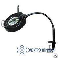 Кольцевой бестеневой светильник с оптической линзой диаметром 127 мм (черный) АТР-6434
