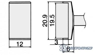 Паяльная сменная композитная головка для станций fx-950/ fx-951/fx-952/fm-203 T12-1010