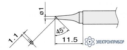 Сменные композитные паяльные головки для паяльников с подачей азота T13-BC1