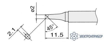 Сменные композитные паяльные головки для паяльников с подачей азота T13-BC2