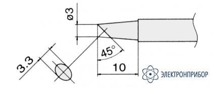 Сменные композитные паяльные головки для паяльников с подачей азота T13-BC3
