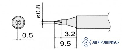 Сменные композитные паяльные головки для паяльников с подачей азота T13-D08