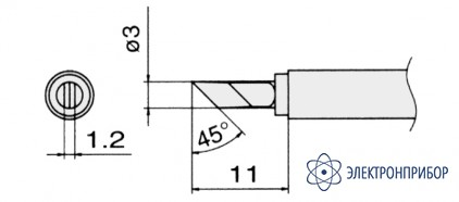 Сменные композитные паяльные головки для паяльников с подачей азота T13-KU