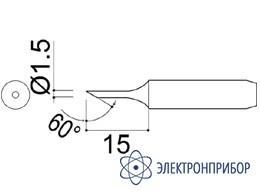 Паяльная сменная головка для паяльников hakko 907/907esd HAKKO 900M-T-1.5CF
