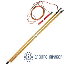 Заземление переносное для воздушных линий однофазное до 220кв с одной штангой ЗПЛ-220Н-1 (сеч. 25мм2)