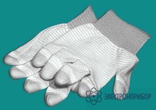 Перчатки esd с фрикционным резиновым покрытием пальцев A-0004-1