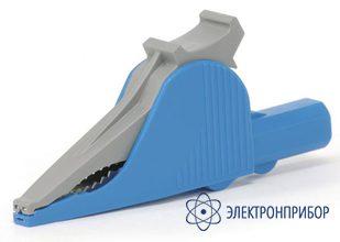 Зажим-насадка типа «крокодил» 1000 в / 20 а (цвет синий) АСА-2106