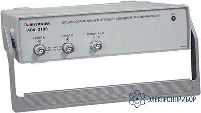 2-х канальный осциллограф - внешняя приставка к пк (с lan-портом) АСК-3106L