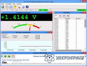 Программное обеспечение для мультиметров Aktakom DMM Light