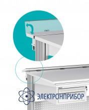 Короб с электромонтажной панелью для столов альфа универсальный антистатическое исполнение ЭПА-АЛФ-У-15 ESD