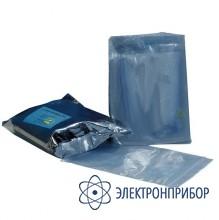 Серо-голубой металлизированный упаковочный пакет 80 микрон c zip-защелкой MC 127x203