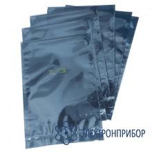 Серо-голубой металлизированный упаковочный пакет 80 микрон M 102x152