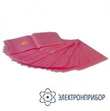 Прозрачно-розовый упаковочный пакет 90 микрон c zip-защелкой SC 305x406