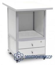 Стол подкатной с 2-мя ящиками с лицевыми панелями и замком АРМ-5075