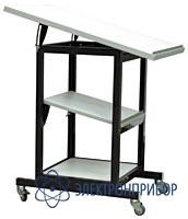 Подкатной столик с регулируемым наклоном поверхностей с антистатической столешницей АРМ-5153-9-ESD