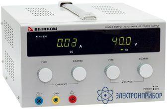 Источник постоянного напряжения 0-30 в и тока 0-10 а АТН-1236