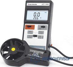 Крыльчатый анемометр-адаптер с выносным датчиком,  для измерения скорости потока воздуха (0,8-30 м/с) АТТ-1002
