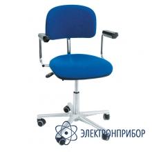 Антистатический лабораторный стул с тканевым покрытием с регулировкой угла наклона спинки, с газлифтом kj/200 КТ 201 ESD