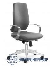 Антистатическое тканевое лабораторное кресло, повышенная эргономика, с газлифтом kj/200, цвет серо-черный, с подлокотниками VKG C-500/KJ200 ESD