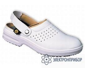 Антистатические туфли-сабо CLOG белый