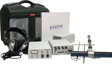 Трассоискатель кабелей и трубопроводов с бесконтактным подключением (мощность 50 вт) Контур
