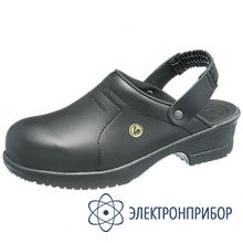Антистатические туфли-сабо FILE черный