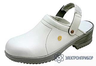 Антистатические туфли-сабо FILE красный