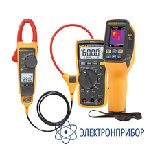 Комплект инфракрасного измерителя температуры (пирометра) с клещами fluke 376 и мультиметром fluke 117 Fluke VT04-ELEC-KIT