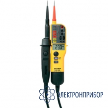 Тестер напряжения/целостности с жк-дисплеем, омметром и переключаемой нагрузкой (версия vde) Fluke T150/VDE