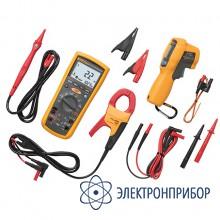 Комплект мультиметра-мегометра+токовые клещи+инфракрасный термометр Fluke 1587ET