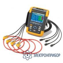 Анализатор качества электроэнергии и работы электродвигателей (с токовыми клещами, русскоязычная поддержка и клавиатура) Fluke 438 II/RU