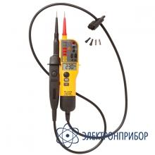 Тестер напряжения/целостности с жк-дисплеем и переключаемой нагрузкой (версия vde) Fluke T130/VDE