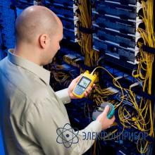 Прибор поиска неисправностей и определения расстояния до них в одномодовых кабелях Fluke Fiber OneShot PRO